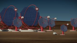 Cherenkov Telescope Array-South in operation (artist's impression) thumbnail
