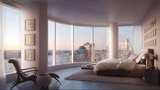 Modern bedroom with large windows ➤ Bedroom Decorating Ideas & Designs ➤ Interior design trends 2019