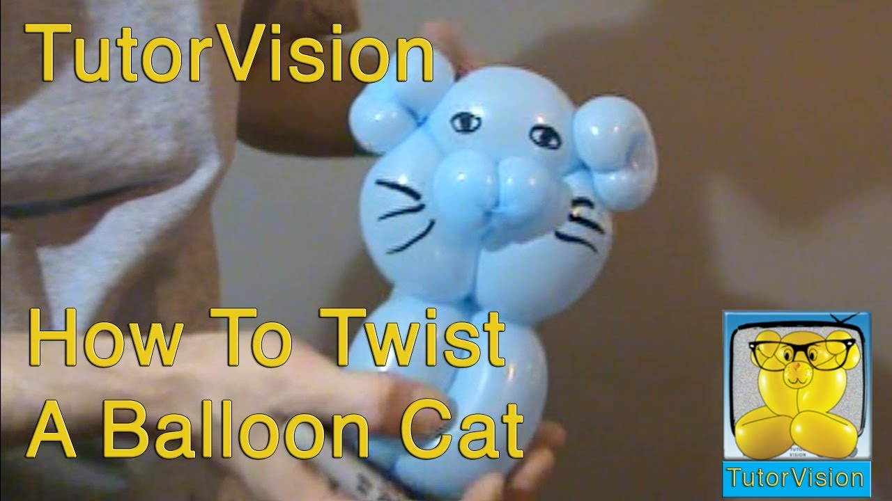 How To Twist A Balloon Cat Tutorvision Tutorial Youtube