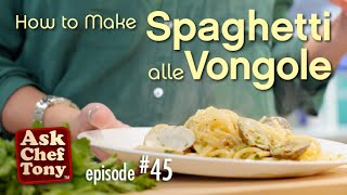 Spaghetti With Clams (white Sauce, Alle Vongole) Recipe. How To Make This Authentic, Italian Dish.