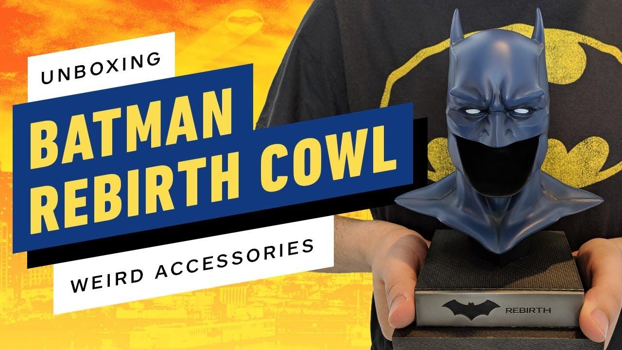 Unboxing Batmans Wiedergeburtskappe enthüllt ein deprimierendes Accessoire + video