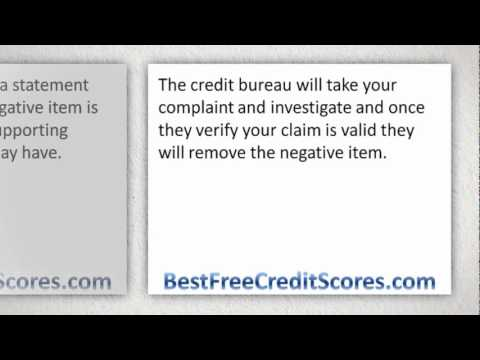 How to dispute a negative item in credit report