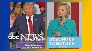 Trump, Hillary Clinton Fight to Win Battleground States