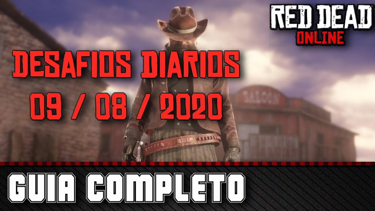 Desafios Diários - Red Dead Online 09/08/2020