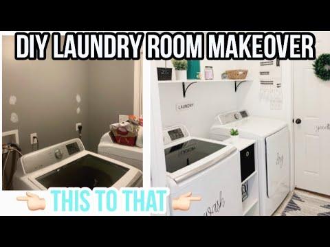 Small Laundry Room Makeover 2020 Diy Laundry Room On A Budget Small Laundry Room Ideas Youtube