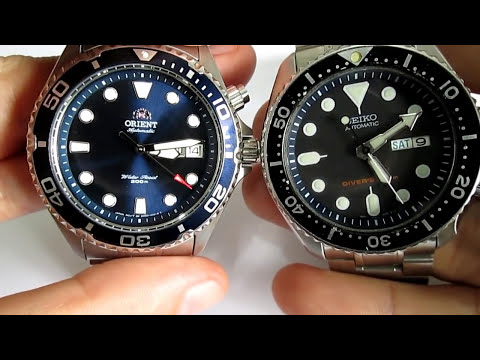 Seiko Skx 007 Vs Orient Ray Battle Of The Entry Level Divers Youtube
