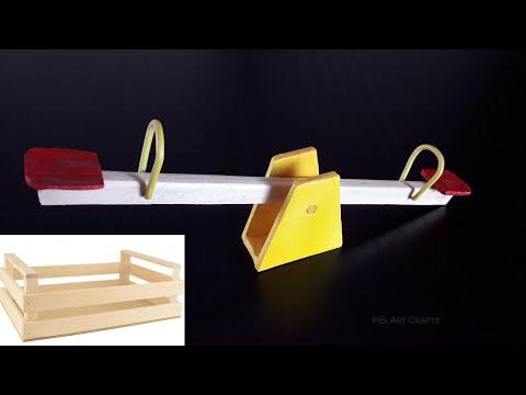 Playground Seesaw Miniature DIY fruit wood box.