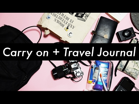 Carry-On and Travel Journal Setup | Midori Traveler's Notebook