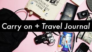 Carry-On and Travel Journal Setup | Midori Traveler's Notebook