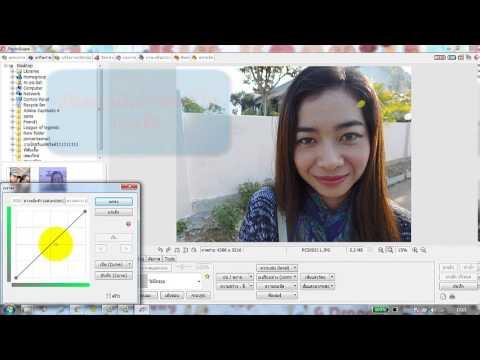 ทำภาพปากส้มด้วยPhotoScape