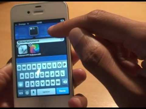 how to set up groups on iphone how to set up create folders groups ios5 iphone 20315
