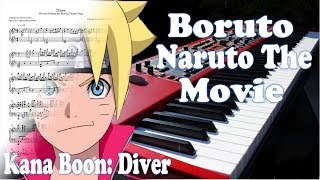 "Boruto [Naruto the Movie] Theme Song ""Diver"" Full Piano Sheets + Midi (Navarone Boo Version)"