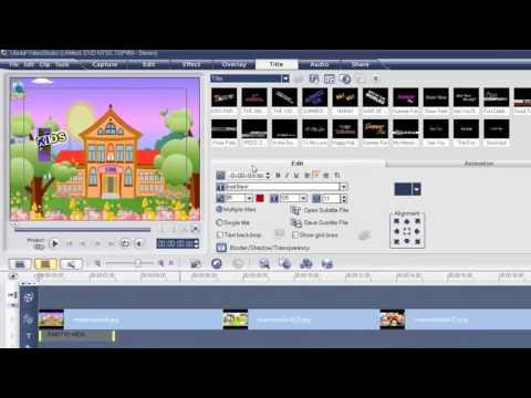 การตัดต่อวีดีโอเบี้องต้นแบบเข้าใจง่าย ด้วยโปรแกรม Ulead VideoStudio 11