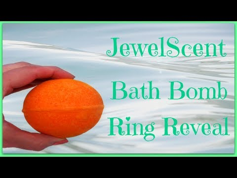 JewelScent Ring Reveal - Sunny Citrus Peel Bath Bomb!