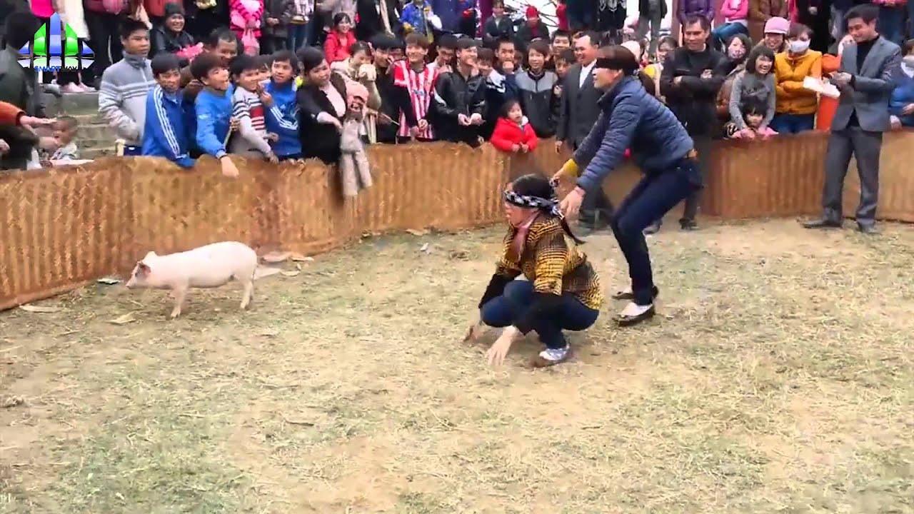 Lễ hội bắt lợn (quê em mùa bắt lợn) các bạn có thấy sôi động không ạ