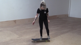 GIRL LEARNS HER FIRST SKATEBOARD TRICKS |  EP...
