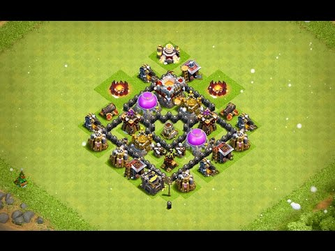 Undefeated Town Hall 4 (TH 4) Farming Base !! (Anti Storag) [ TH4 Defense ] - Clash Of Clans   2017