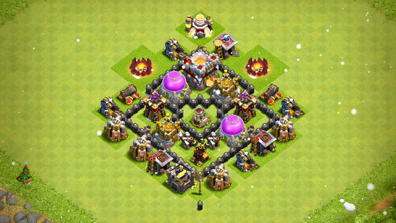 Undefeated Town Hall 4 Th 4 Farming Base Anti Storag Th4
