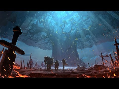Teldrassil burns - Free to use HQ animated background video - World of Warcraft Battle for Azeroth
