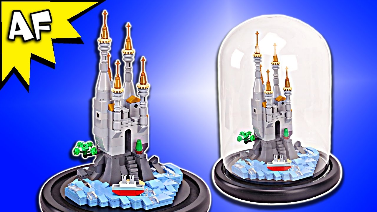 Custom Lego Castle By The Sea In A Glass Dome Moc Speed