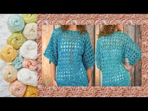 Ажурный узор крючком для туники - Crochet Openwork Pattern For Tunic
