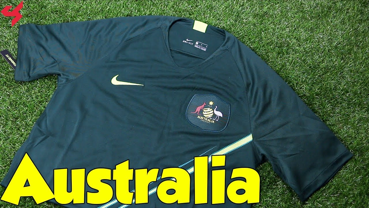 d5352591735 World Cup 2018 Nike Away Australia Soccer Jersey Unboxing + Review ...