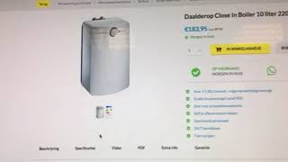 Daalderop Close In Boiler 10 liter | Sanispecials
