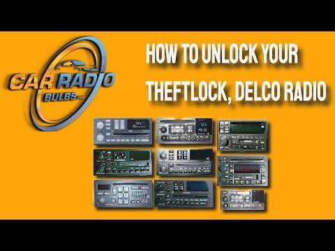 How To Unlock A 2002 2008 Chevrolet Theftlock Radio