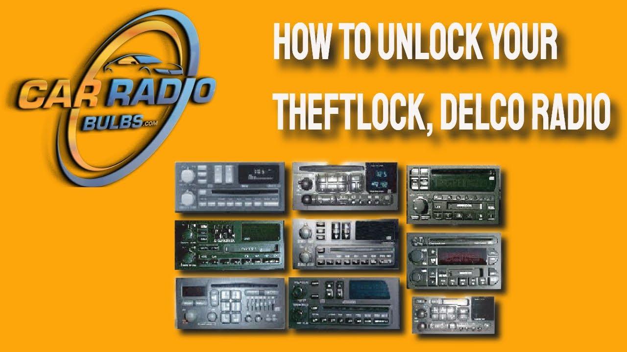 How to unlock Your Theftlock, Delco Radio  YouTube