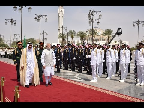 PM Modi at the Ceremonial Reception in Riyadh, Saudi Arabia