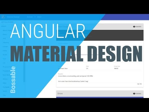 AngularJS Material Design in your MEAN Stack ⋆ Bossable