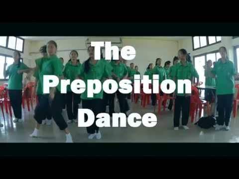 เรียนรู้คำบุพบทด้วยการเต้นรำThe Preposition Dance