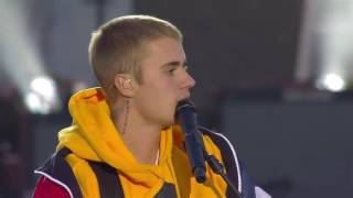 Justin Bieber One Love Manchester Breaks Down And Cries