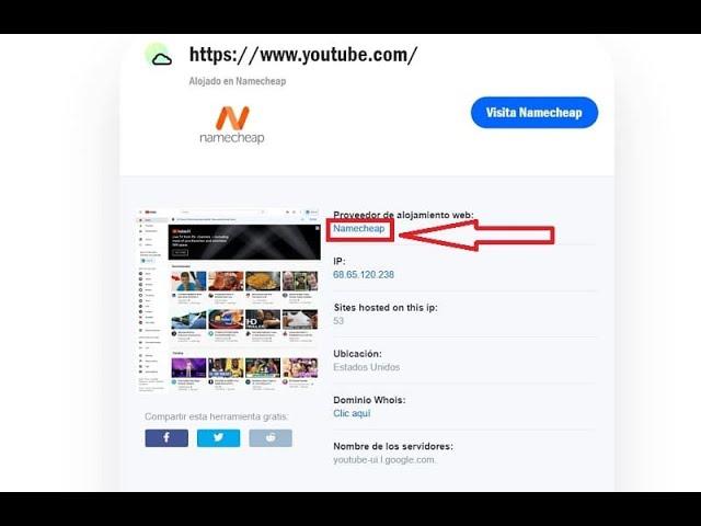Como Saber El Hosting De Una Web Fácil Y Rápido Youtube