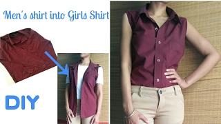 No Sew DIY : Convert Men's Shirt Into Girls/ Dress/Shirt/casual/in 5 minutes/VIEWER'S CHOICE