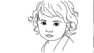 How to Draw a Cute Baby Girl