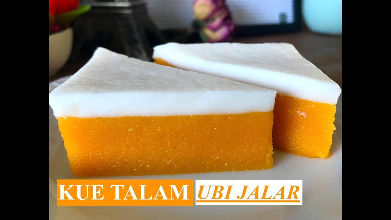 Kue Talam Ubi Jalar Kuning Sweet Potato Layer Cake English Subtitles