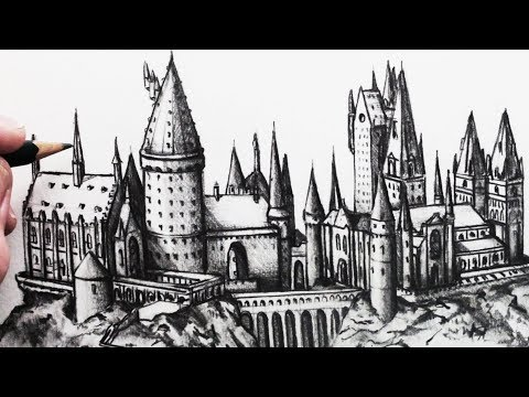 How to Draw Hogwarts School: Narrated