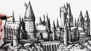Learn How to Draw Hogwarts School of Witchcraft and Wizardry in thi...
