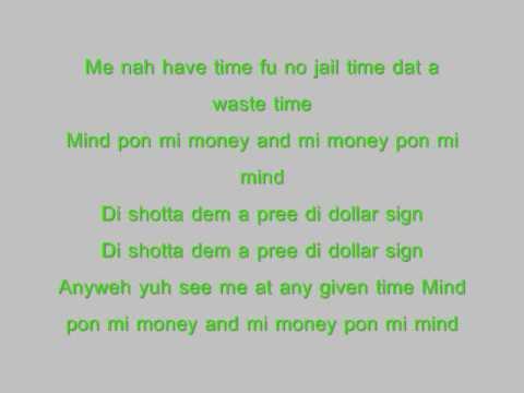 vybz kartel dollar sign with lyrics