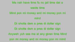 vybz kartel dollar sign with lyrics