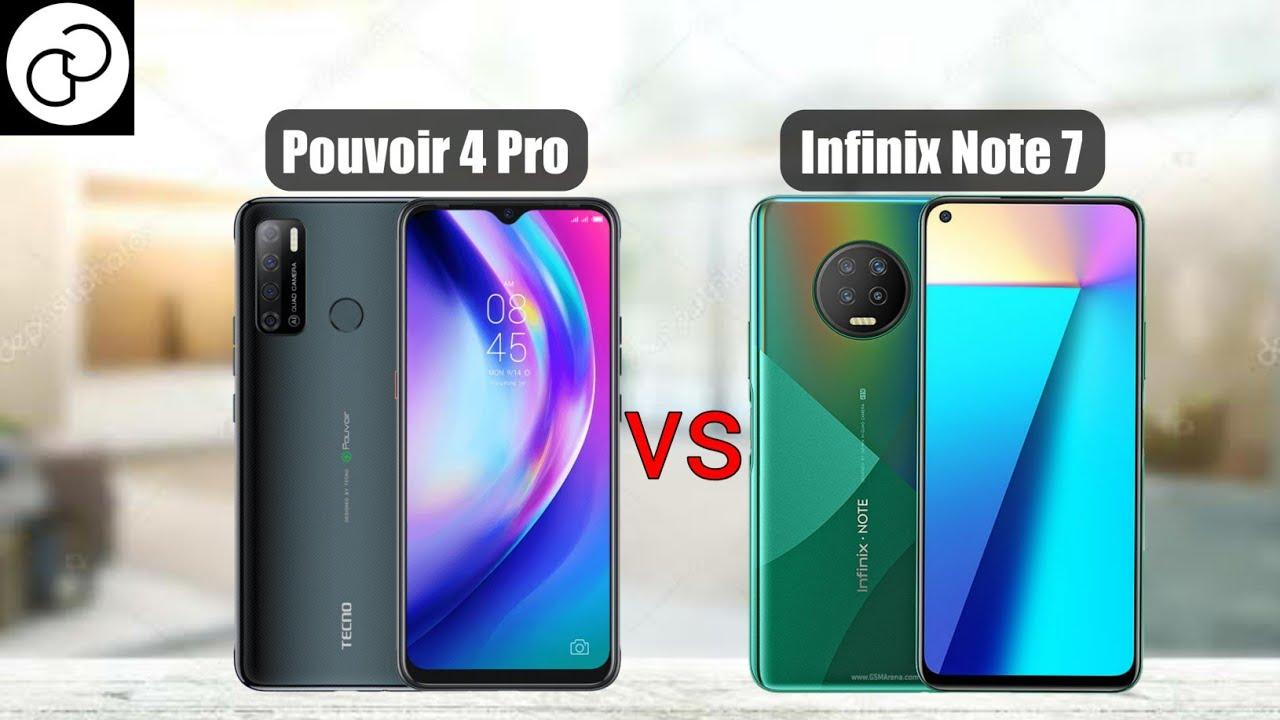 Tecno Pouvoir 4 Pro vs Infinix Note 7; which is better?