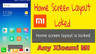 home screen layout is locked in hindi