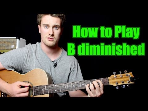 How to Play - B diminished (Chord, Guitar)