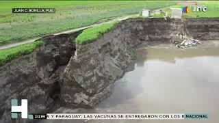 Aparece MEGA GRIETA en el SOCAVÓN de Puebla