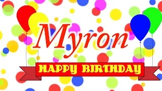 Happy Birthday Myron Song