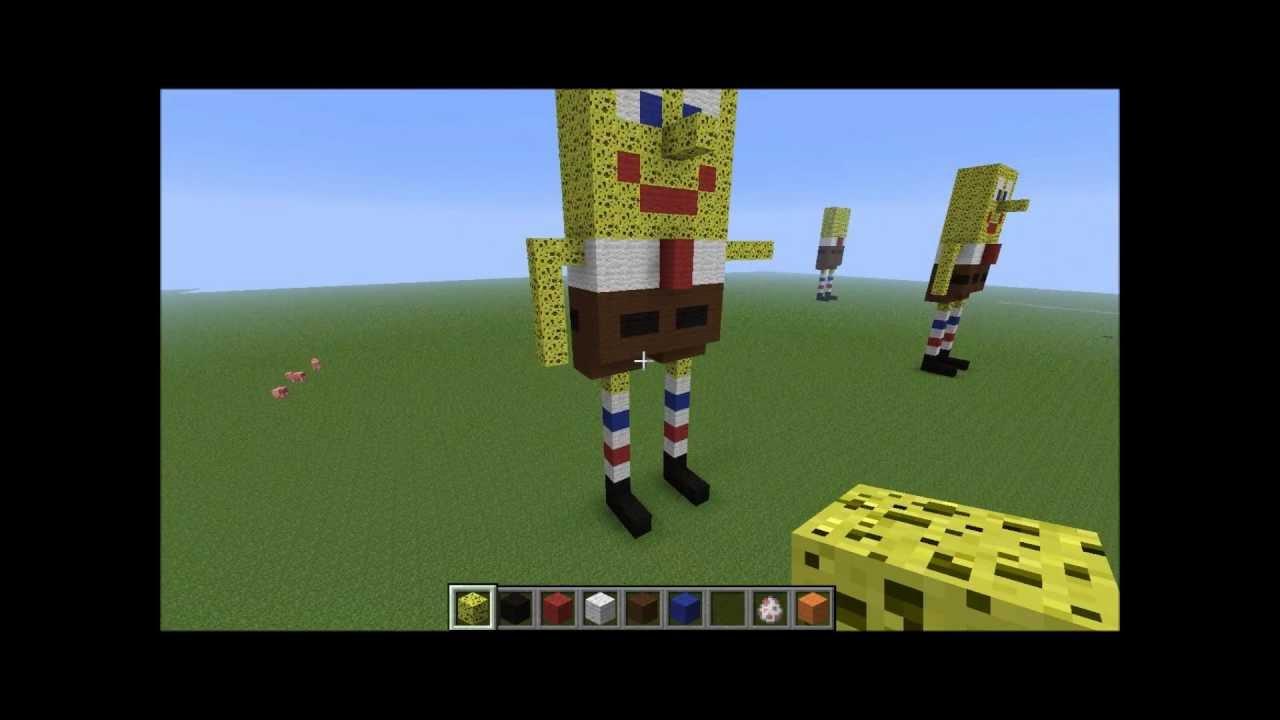 Tuto comment faire bob l 39 ponge dans minecraft by flo13240vallcross youtube - Comment faire une laisse dans minecraft ...