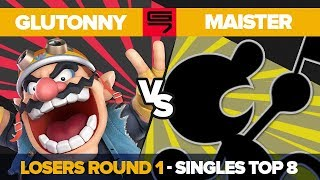 Glutonny vs Maister - Losers Round 1: Top 8 Ultimate Singles - Genesis 7 | Wario vs Game & Watch