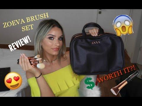 Zoeva Makeup Artists Zoe Bag Review   Brushes for Beginners!