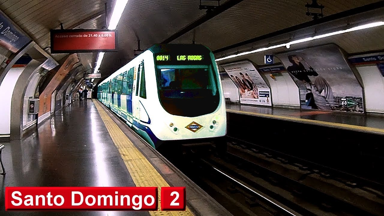 Metro de madrid santo domingo l2 serie 3000 youtube Metro santo domingo madrid